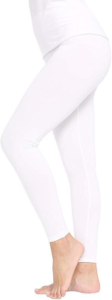 MANCYFIT Thermal Pants for Women Fleece Lined Leggings Underwear Soft Bottoms 2 Pack