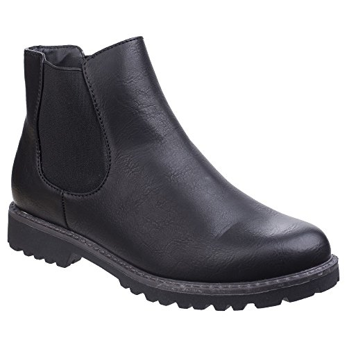 Boots Divaz Black Chelsea Womens Ladies qwtx8RPF