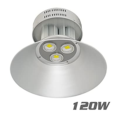 VidaGoods 120W Watt LED High Bay Light Bright White Lamp Lighting Fixture Factory Industry Warehouse