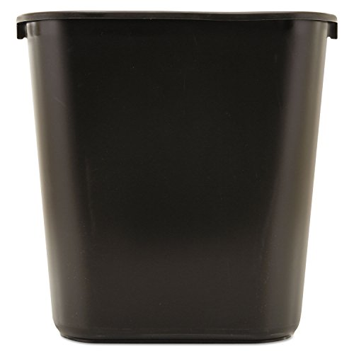 Wastebasket 28qt Black by Rubbermaid Commercial