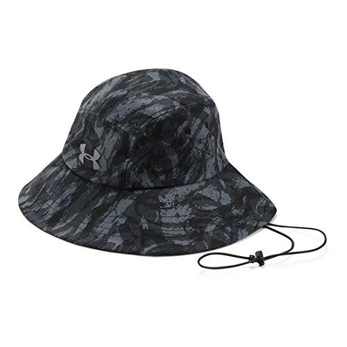 Under Armour Men`s Fish Hook ArmourVent Bucket Hat (Black/Graphite/Tin, One - Fish Cap Golf