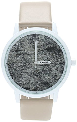 Silver Polished Stone dial Clock Waterproof White White Stone-L (Polished Dial White)