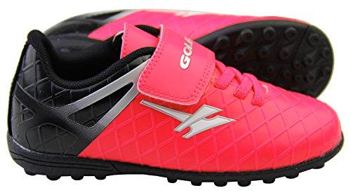 Footwear Studio - Botas de fútbol para niño negro negro Rosa y Negro