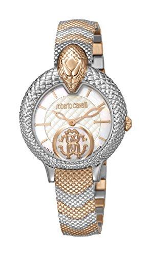 Roberto Cavalli by Franck Muller Swiss Made Women's RV1L037M0106 Scalè Swiss Quartz Two Tone Rose Gold Bracelet Watch