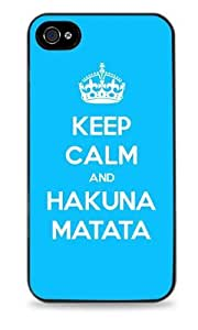 445 Keep Calm and - Black Hardshell Case For Iphone 4/4S Cover
