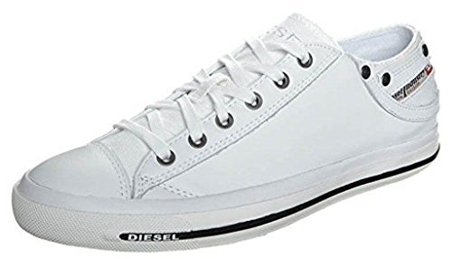 Diesel Exposure iv White Black New Womens Leather Lo Top Trainers Shoes Boots-8