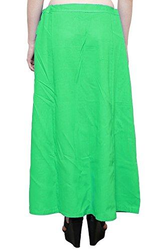 Readymade de algodón de las mujeres indio inskirt Saree petticoats enaguas–talla única verde claro