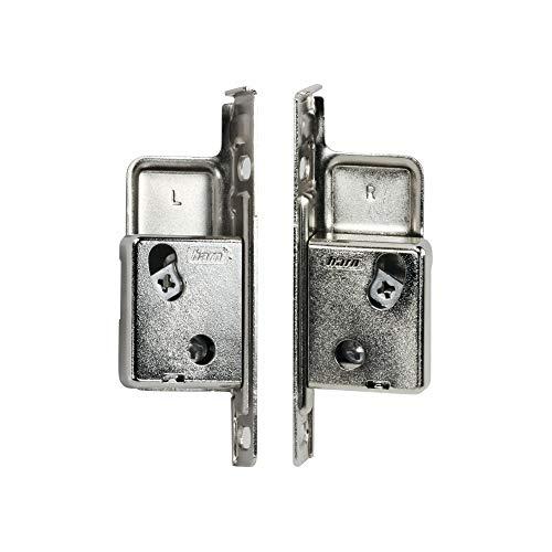 Rok Hardware Harn Impaz Drawer Box Slide Runner Left/Right Clip On Screw On Front Fixing Bracket Pair (2 Pairs, Left/Right) - Front Runner Bracket