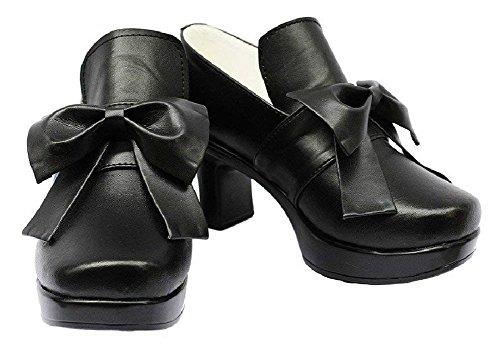 Halloween Black Butler 2 Kuroshitsuji Ciel Cover VER Black Shoes Cosplay Boots Custom Made (Male 10)