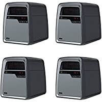 Lasko Portable Casters Cool Touch Electric Infrared Quartz Space Heater (4 Pack)