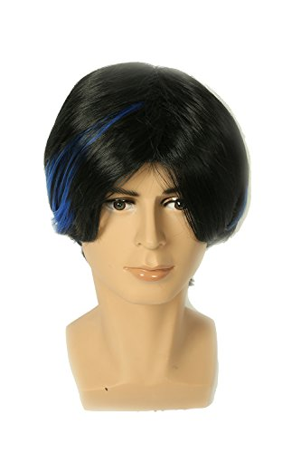 xcoser Nightcrawler Wig Short Blue and Black Blended Wig Costume accessories -