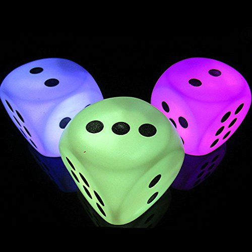 Tpingfe Battery Creative Discoloration Dice LED Night Head Bedroom Decoration Light