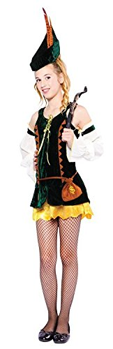 Robin Hood Hunter Teenager Female Fancy Dress Costume - (US 4-8)