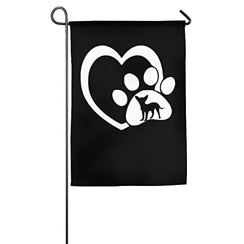 MM-FLAG Dog Heartbeat Chihuahua Home Garden Flag Decorative For Indoor Outdoor Welcome Demonstration Flag