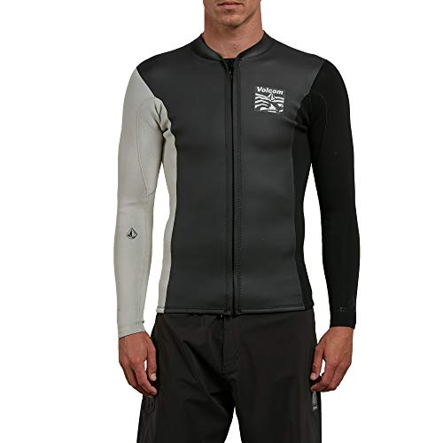 Volcom Men's Chesticle Wetsuit Jacket, Black/White, Extra Large by Volcom