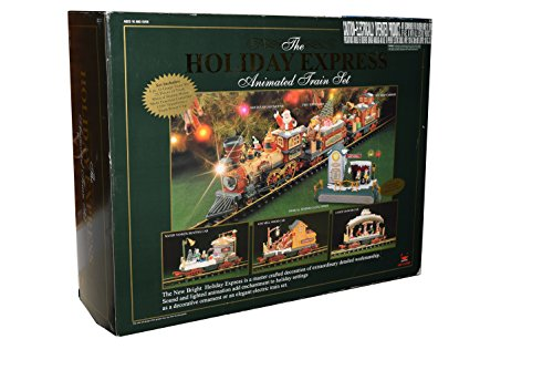 New Bright The Holiday Express Animated Electric Train Set G Scale (6 Piece Set) (Holiday Electric Train Sets)