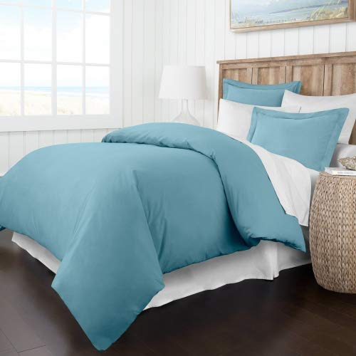 Beckham Hotel Collection Luxury Soft Brushed 2300 Series Microfiber Duvet Cover Set - Hypoallergenic - Full/Queen - Sky Blue