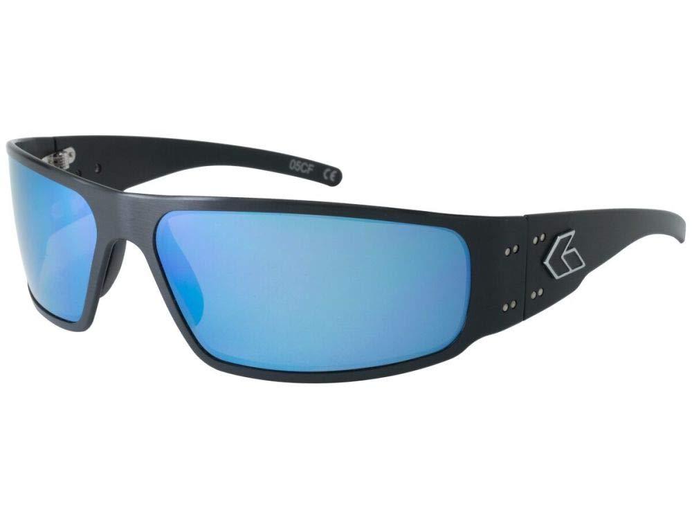 1e6ee4ee00 Amazon.com   Gatorz Magnum 2.0 Asian Fit Aluminum Frame Sunglasses-Black Smoked  +Blue Mirror   Sports   Outdoors