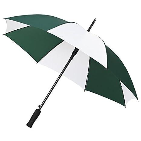 Falcone compacto automático Paraguas de golf, color verde y blanco