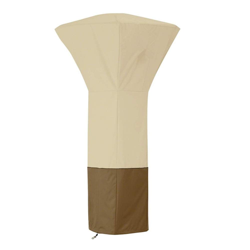 LDIW Pyramid Stand Up Patio Heater Cover, Waterproof Oxford Cloth Heaters Cover Standup Patio Heater Cover,Beige Coffee,210D81x81x221cm by LDIW