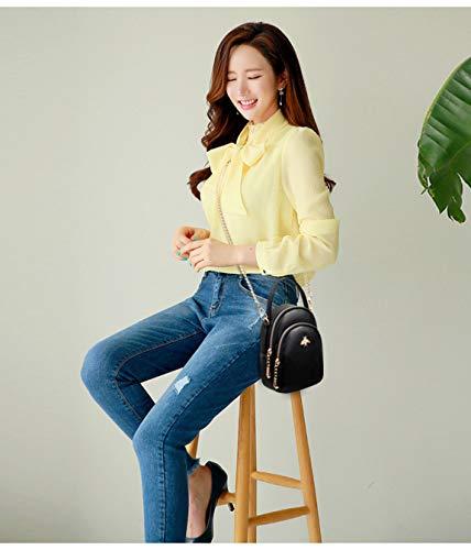 Di Versione Borsa Fascia Hjly Alta Messenger Leather Della A Viola Mano Coreana In Mini Pelle Canfora 7B5PwYFq5