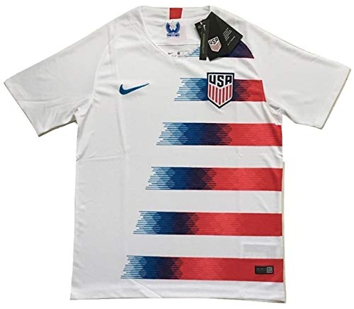 fd8f6d4c9 Enevva Men's USA National Team 2018-2019 Home Soccer Jersey White (Men's  Medium)
