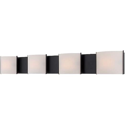 Amazon.com: Baño Vanity 4 lámparas con acabado en bronce con ...