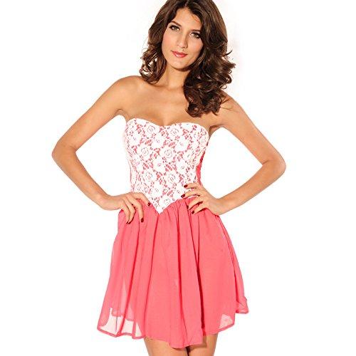 lemandy clásico y atemporal corto vestido de fiesta al aire libre (Un tamaño)