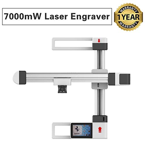 7000mW Off-line Laser Engraving Machine, USB Mini Desktop Laser Engraver Printer, Carver Size 155x175mm, High Speed Laser Engraving Cutter for Stainless Steel, Painted Metal Surface, Wood, Plastic ()