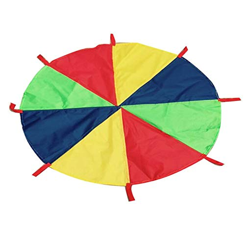 3.6m Outdoor Children's Early Education System Toy Rainbow Parachute Multi-Coloured Kids Play Parachute 8 Handles Kid Toy by Migvela