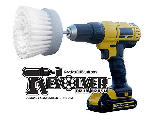 Revolver Drill Brush - Power Scrubbing Drill Attachment - Multi-Purpose Cleaning Tool