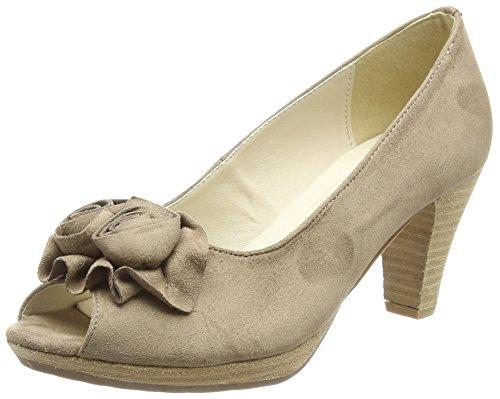 Hirschkogel 0733109, Women's Open-Toe Heels Beige (Taupe 066 066)