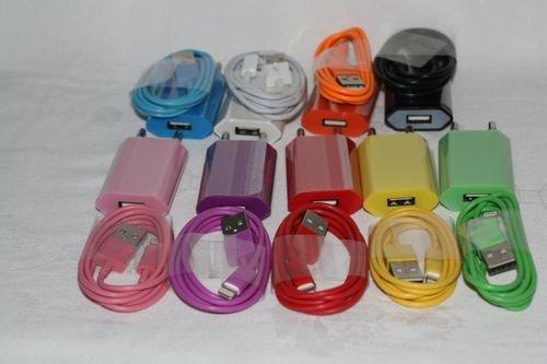 Para iPod iPhone 4S 4 3 G 3GS cargador + cable de datos USB cargador 2-in-1