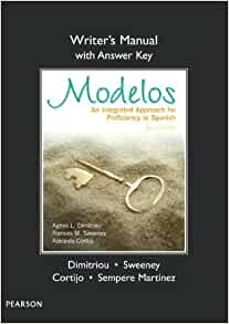 Amazon.com: Writer's Manual (with Answer Key) for Modelos