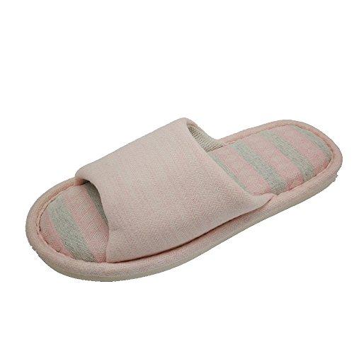 37 Cool Non Pantoufles Pantoufles Lin à Femmes Hommes 36 Pantoufles en pour Maison Lin et Pink Domicile GR glissantes Sandales en HOqwT1
