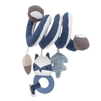 Forest Lake Blue mit Waschb/är Rebel 31 x 22 cm blau ab Geburt Sebra Aktivit/ätsspirale Woodland