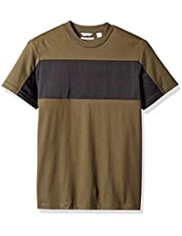 Mens Short Sleeve Jersey Tee with Rib Details · Calvin Klein