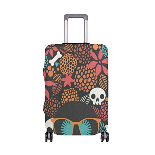 Luggage Cover Suitcase Halloween Skull Luggage Cover Travel Case Bag Protector for Kid Girls Travel Case Suitcase Cover Bag Protector 3D Print Design 26