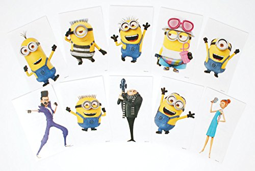 SFS Gifts Despicable Me 3 Stickers - Complete Set of 10 Vending Stickers Featuring Minion Dave, Stuart, Kevin Gru and -