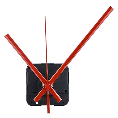 Mudder Long Spindle Quartz Clock Mechanism, 1/2 Inch Maximum Dial Thickness, 9/10 Inch Total Shaft Length (Red) ()