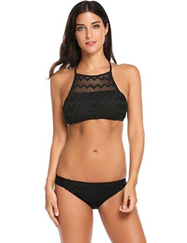 Black 2 Piece Swimsuit - 1