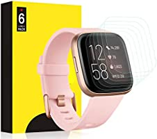 Aresh Screen Protector Compatible with Fitbit Versa 2 Screen Protector, Anti-Bubble & Scratch-Resist Cover LiQuidSkin...