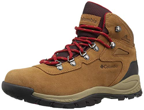 Columbia Women's Newton Ridge Plus Waterproof Amped Hiking Boot, Elk, Mountain Red, 9 B US -