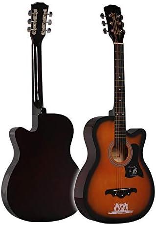 クラシックギター 38インチのフォークギターナチュラルシナギター初心者の練習アコースティックギター 女の子と男の子のギター (Color : I, Size : 38 inch)