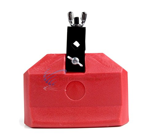 6 Inch Plastic Cow Bell Red Latin Percussion Drum Music