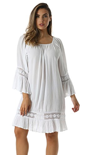 Riviera Sun 21769-WHT-2X Dress Dresses For Women
