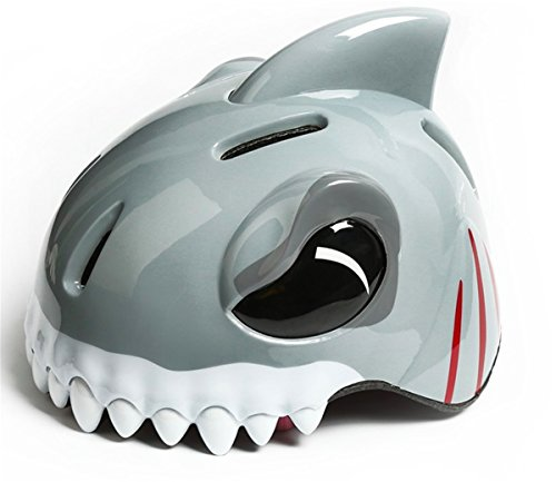 Popo Rabbit Multi-sport Kid Helmet Comfortable Adjustable Skateboard Outdoor Sports Child Children Cute Animal Kid Kids Boys Girls Bike Bicycle Cycle Cycling Helmet (shark silver) (Helmet Face Shark)