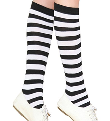 Aivtalk Womens Opaque Striped Stockings