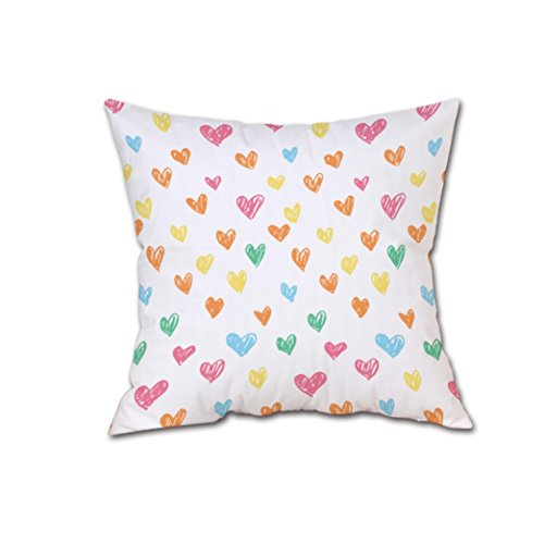 Gallity Halloween Pillow Cases Linen Sofa Pumpkin Ghosts Cushion Cover Throw Pillow Case Covers Decorative Cushion Cover For Sofa Home Decor Valentine's Gift (I)]()