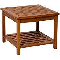 Longs Peak Eucalyptus Two Shelf Side Table (Natural Oil)